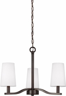 Seagull 3128003-782 Nance Modern Heirloom Bronze LED Mini Lighting Chandelier