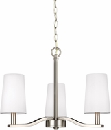 Seagull 3128003-962 Nance Contemporary Brushed Nickel LED Mini Chandelier Lamp