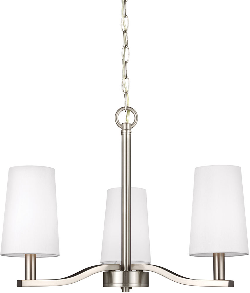 Seagull 3128003 962 nance contemporary brushed nickel led mini seagull 3128003 962 nance contemporary brushed nickel led mini chandelier lamp loading zoom arubaitofo Choice Image