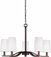 Seagull 3128005-782 Nance Modern Heirloom Bronze LED Chandelier Light