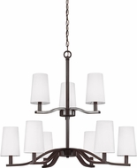 Seagull 3128009-782 Nance Modern Heirloom Bronze LED Hanging Chandelier