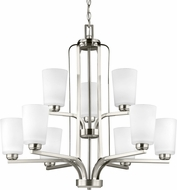 Seagull 3128909EN3-962 Franport Modern Brushed Nickel LED Chandelier Lighting