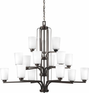 Seagull 3128915-710 Franport Contemporary Burnt Sienna Lighting Chandelier