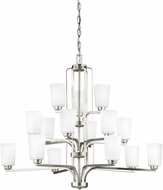 Seagull 3128915EN3-962 Franport Modern Brushed Nickel LED Ceiling Chandelier
