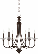 Seagull 31318EN-710 Lemont Modern Burnt Sienna LED Chandelier Lighting