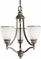 Seagull 31349EN-708 Laurel Leaf Estate Bronze LED Mini Ceiling Chandelier