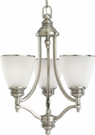 Seagull 31349EN-965 Laurel Leaf Antique Brushed Nickel LED Mini Hanging Chandelier