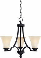 Seagull 31375EN-839 Somerton Blacksmith LED Mini Hanging Chandelier