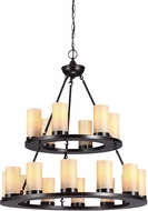 Seagull 31585BLE-710 Ellington Contemporary Burnt Sienna Fluorescent Chandelier Light
