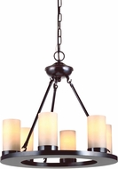 Seagull 31586BLE-710 Ellington Contemporary Burnt Sienna Fluorescent Lighting Chandelier
