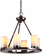 Seagull 31586EN-710 Ellington Contemporary Burnt Sienna LED Mini Lighting Chandelier