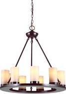 Seagull 31587BLE-710 Ellington Contemporary Burnt Sienna Fluorescent Mini Chandelier Light