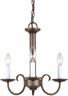 Seagull 31807EN-827 Holman Bell Metal Bronze LED Mini Hanging Chandelier