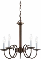 Seagull 31809EN-827 Holman Bell Metal Bronze LED Mini Chandelier Lighting