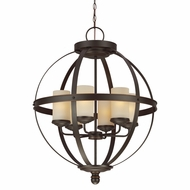 Seagull 3190406BLE-715 Sfera Contemporary Autumn Bronze Fluorescent Chandelier Lighting