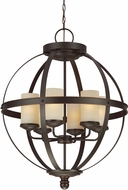 Seagull 3190406EN-715 Sfera Contemporary Autumn Bronze LED Pendant Light Fixture