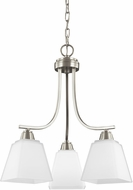 Seagull 3213003EN-962 Parkfield Brushed Nickel LED Mini Chandelier Light