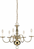 Seagull 3410EN-02 Polished Brass LED Mini Lighting Chandelier