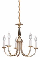 Seagull 3916EN-02 Polished Brass LED Mini Lighting Chandelier