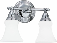 Seagull 40124EN-05 Sagemore Chrome LED 2-Light Bathroom Lighting