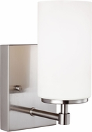 Seagull 4124601-962 Alturas Contemporary Brushed Nickel Lighting Wall Sconce