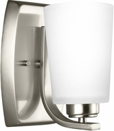 Seagull 4128901EN3-962 Franport Modern Brushed Nickel LED Wall Sconce Lighting