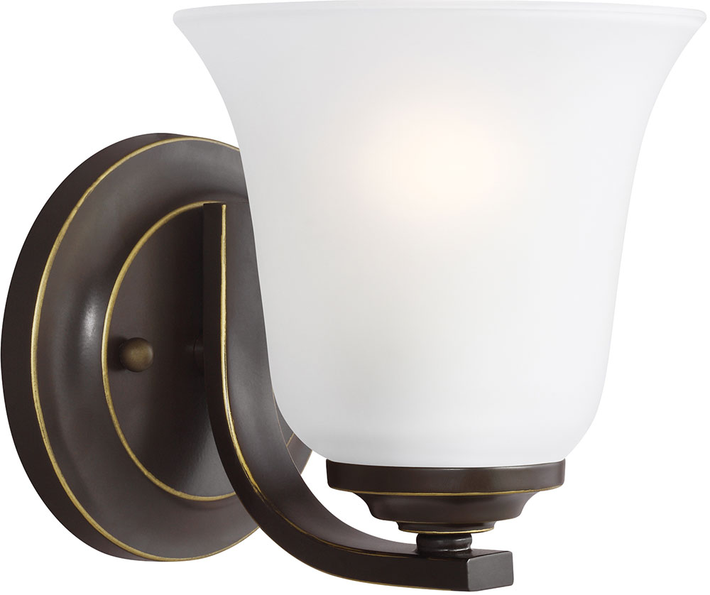Led Bronze Wall Sconces : Seagull 4139001-782 Emmons Heirloom Bronze LED Wall Sconce Lighting - SGL-4139001-782