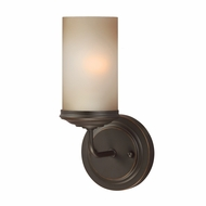 Seagull 4191401BLE-715 Sfera Modern Autumn Bronze Fluorescent 3-Light Sconce Lighting