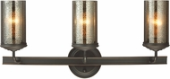 Seagull 4410403EN-715 Sfera Modern Autumn Bronze LED 3-Light Bathroom Lighting Fixture