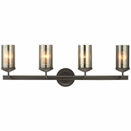 Seagull 4410404BLE-715 Sfera Modern Autumn Bronze Fluorescent 4-Light Vanity Lighting