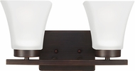 Seagull 4411602EN-710 Bayfield Contemporary Burnt Sienna LED 2-Light Bath Light Fixture