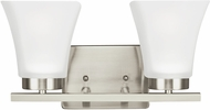 Seagull 4411602EN-962 Bayfield Modern Brushed Nickel LED 2-Light Bath Lighting Fixture