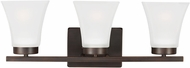 Seagull 4411603EN-710 Bayfield Modern Burnt Sienna LED 3-Light Bathroom Vanity Lighting