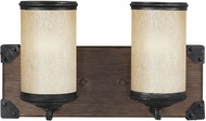 Seagull 4413302BLE-846 Dunning Stardust / Cerused Oak Fluorescent 4-Light Bathroom Vanity Lighting