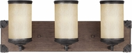Seagull 4413303BLE-846 Dunning Stardust / Cerused Oak Fluorescent 2-Light Bathroom Sconce