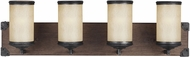 Seagull 4413304EN-846 Dunning Stardust LED 4-Light Bathroom Vanity Light Fixture