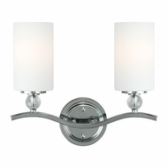 Seagull 4413402BLE-05 Englehorn Chrome / Optic Crystal Fluorescent 4-Light Bathroom Vanity Light Fixture