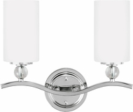Seagull 4413402EN-05 Englehorn Chrome LED 2-Light Bathroom Wall Sconce