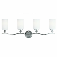 Seagull 4413404BLE-05 Englehorn Chrome / Optic Crystal Fluorescent 2-Light Bathroom Lighting Sconce