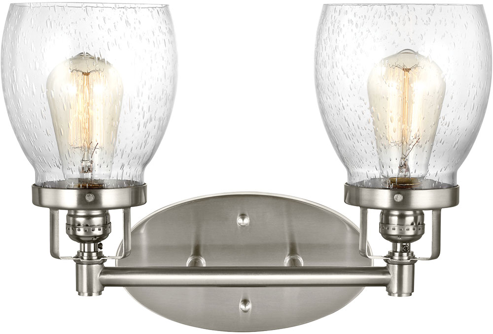Seagull 4414502-962 Belton Modern Brushed Nickel 2-Light