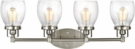 Seagull 4414504-962 Belton Modern Brushed Nickel 4-Light Vanity Light