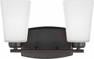 Seagull 4423002EN3-710 Waseca Modern Burnt Sienna LED 2-Light Bath Light Fixture