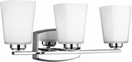 Seagull 4423003EN3-05 Waseca Contemporary Chrome LED 3-Light Bathroom Vanity Lighting