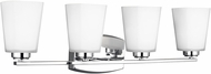 Seagull 4423004EN3-05 Waseca Contemporary Chrome LED 4-Light Vanity Light Fixture