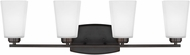 Seagull 4423004EN3-710 Waseca Modern Burnt Sienna LED 4-Light Vanity Lighting Fixture