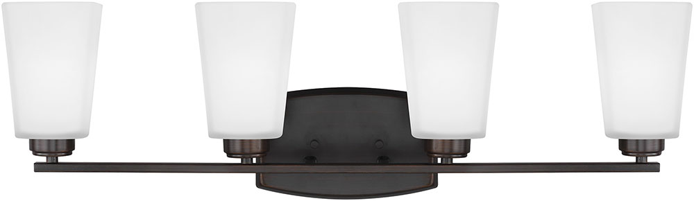 Seagull 4423004EN3-710 Waseca Modern Burnt Sienna LED 4-Light Vanity ...