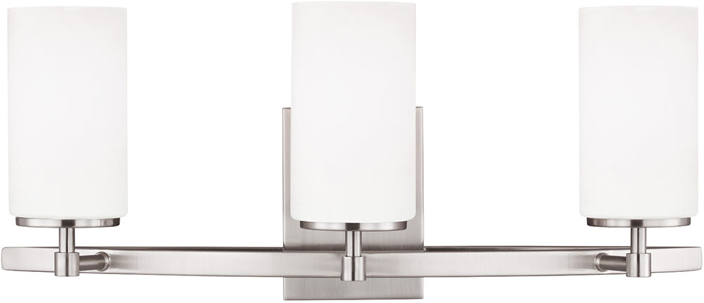 Bathroom Light Fixtures In Brushed Nickel seagull 4424603-962 alturas modern brushed nickel 4-light bathroom