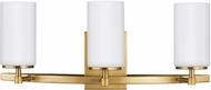 Seagull 4424603EN-848 Alturas Contemporary Satin Bronze LED 3-Light Bathroom Vanity Light