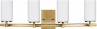 Seagull 4424604EN-848 Alturas Contemporary Satin Bronze LED 4-Light Vanity Lighting Fixture