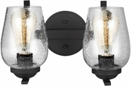 Seagull 4427802-839 Morill Blacksmith 2-Light Bathroom Wall Sconce